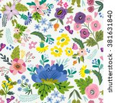 awesome floral pattern of... | Shutterstock .eps vector #381631840