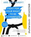 vector karate competition flyer ... | Shutterstock .eps vector #381632368