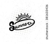 conceptual handwritten phrase... | Shutterstock . vector #381633436