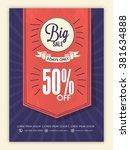 stylish big sale flyer  banner... | Shutterstock .eps vector #381634888