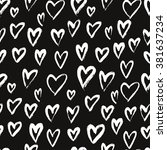 seamless  pattern with hearts.... | Shutterstock .eps vector #381637234
