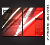 vector brochure template design ...   Shutterstock .eps vector #381640456