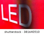 Bright Colored Red Led Sign At...
