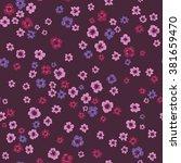 vector seamless cute little...   Shutterstock .eps vector #381659470