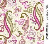 seamless paisley background....   Shutterstock .eps vector #381670708