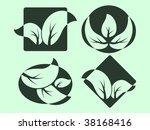 nature logos. silhouettes of... | Shutterstock .eps vector #38168416