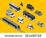 isometric 3d transport set flat ... | Shutterstock . vector #381688768