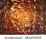 abstract orange creative... | Shutterstock . vector #381696520