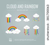 Vector Icon Set  Color Rainbow...