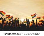 community celebration rainbow... | Shutterstock . vector #381704530