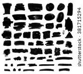 set of grunge vector textured...   Shutterstock .eps vector #381715294