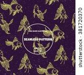 seamless pattern. vintage... | Shutterstock .eps vector #381720370