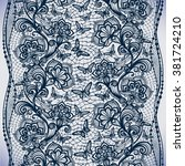 abstract seamless lace pattern... | Shutterstock .eps vector #381724210