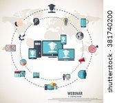 e  learning   webinar concept... | Shutterstock .eps vector #381740200