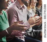 Small photo of Audience Applaud Clapping Happiness Appreciation Training Concept
