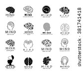 mind icons set   isolated on... | Shutterstock .eps vector #381741418