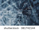 concept of internet of things ... | Shutterstock . vector #381742144