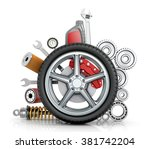the concept of truck wheels... | Shutterstock . vector #381742204