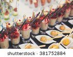 beautifully decorated catering...