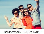 friendship  tourism  travel and ... | Shutterstock . vector #381754684