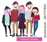 fashionable young   stylish... | Shutterstock .eps vector #381757804