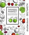 vector healthy food template.... | Shutterstock .eps vector #381764074