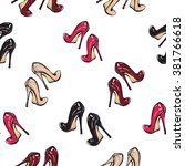 vector fashion sketch. hand...   Shutterstock .eps vector #381766618