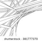 abstract architecture structure | Shutterstock .eps vector #381777370