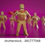 3d low poly man   people... | Shutterstock . vector #381777568