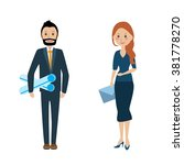 the team of business people.... | Shutterstock .eps vector #381778270