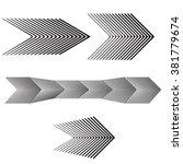black and white arrow forward... | Shutterstock .eps vector #381779674