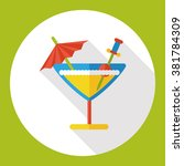 champagne drink flat icon | Shutterstock .eps vector #381784309