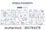 doodle design style... | Shutterstock .eps vector #381784378