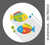 fish food flat icon | Shutterstock .eps vector #381786313
