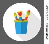 paint brush flat icon | Shutterstock .eps vector #381786334