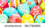 perfect colorful handmade...   Shutterstock . vector #381786880