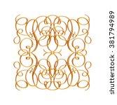 ornament elements  vintage gold ...   Shutterstock . vector #381794989