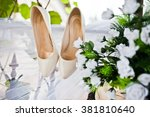 White Wedding Shoes On Fatin...
