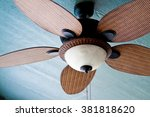 Decorative ceiling fan on porch ...