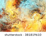 sunlight. abstract painting... | Shutterstock . vector #381819610