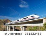 view of a high speed train... | Shutterstock . vector #381823453