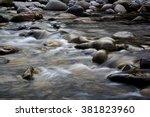Calm Water Stream Around The...