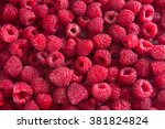 Fresh Raspberries Background...