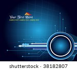 blue abstract background | Shutterstock .eps vector #38182807
