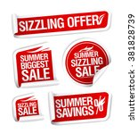 sale and savings stickers set ... | Shutterstock .eps vector #381828739