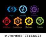 chakras icons . concept of... | Shutterstock .eps vector #381830116