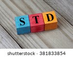 std  sexually transmitted... | Shutterstock . vector #381833854