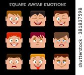 create a square avatar emotions | Shutterstock .eps vector #381837598