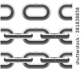 seamless chain links    metal...   Shutterstock .eps vector #381838858