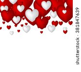 valentine. set of stickers in... | Shutterstock .eps vector #381847639